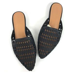 Universal Thread Black Weave Mules Size 7
